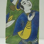 Fragmentary Tile with Figural Decoration