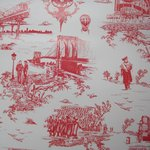 "Wallpaper, ""Brooklyn Toile"" pattern"