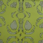 "Wallpaper, ""Dandelion Creatures"" Pattern"