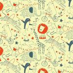"Wallpaper, ""Circus"" Pattern"
