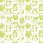 "Wallpaper, ""Owls"" Pattern"