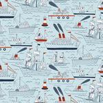 "Wallpaper, ""Ship & Sails"" Pattern"