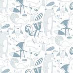 """Wallpaper, """"Friendly Forest"""" Pattern"""