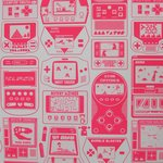"Wallpaper, ""Gameland"" pattern"