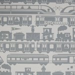 "Wallpaper, ""Robo Rail"" pattern"