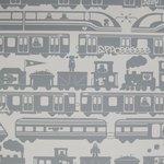 """Wallpaper, """"Robo Rail"""" pattern"""