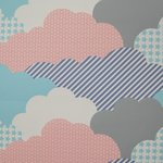 "Wallpaper, ""Clouds"" pattern"