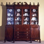 Bookcase on Cabinet Base With Pediment Top