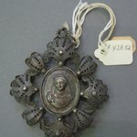 Filigree Pendant With Medallion in Center