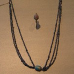 Three Strand Necklace with Scarab
