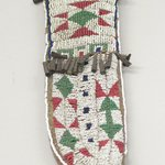 Beaded Knife Sheath, Part of War Outfit