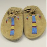 Pair of Moccasins, Part of War Outfit