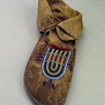 Moccasin with Blue,Yellow, White and Red Beading