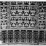 Fringed Shawl, ikat weave