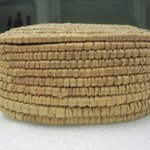 Oval Shaped Basket With Lid