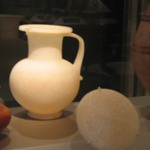 Globular Jar with Handle and Cover
