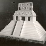 Model of the Temple of the Sun, Palenque, Mexico