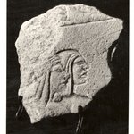 Small Flake with the Heads and Shoulders of Two Men in Low Relief