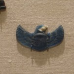 Inlay in the Form of a Winged Scarabeus with Falcon Head