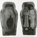 Small Model of a Coffin with Two Ushabti of Seba