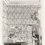 Interior with Pink Wallpaper II (Int&eacute;rieur aux tentures roses II)