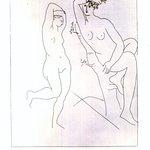 Deux Femmes Nues Dans un Arbre