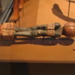Handle of a Fly Whisk (?) in the Form of Bound Nubian