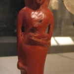 Figure Vase of Woman Holding Animal
