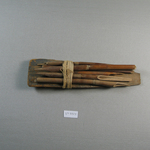 Board with Five Scribes Pens Attached and Bound Together with a Small Piece of Linen