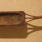 Toilet Spoon with Bowl in Shape of a Cartouche
