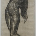 Nude Figure with Arms Above Head