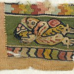 Fragment of Border Showing Flying Genius with Fruit Basket