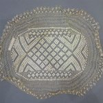 Oval Linen Lace Doily