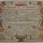 Pennsylvania-Dutch Birth Certificate for Matthew Linkzenbigler