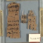 Three Small Fragments of Papyrus Inscribed in Demotic