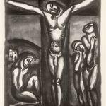 Christ en Croix avec Disciples