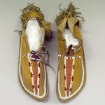 Pair of Beaded Moccasins with Hard-soles