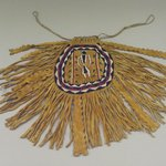Fringed Pouch with Beaded Figure