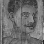 Painting of a Man, Head and Shoulders, on a Thin Wooden Panel