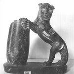 Serpentine Statuette in the Round of Lion