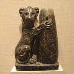 Serpentine Statuette of Seated Lion