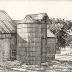 Silo and Barn in Summer