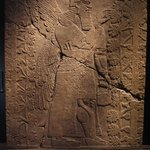 Relief of Winged Man-Headed Figure Facing Left