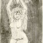 Nude Model with Arms Upraised (Akt mit erhobenen Armen)