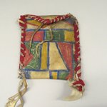 Pouch with Painted Geometric Designs