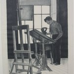 Robert Laurent in His Studio