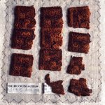 8 Textile Fragments, Unascertainable or Mantle Border Fragments