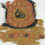 Fragment with Tapestry Roundel with Bird in Center