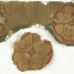 Fragment of Tapestry with Three Flower Roundels