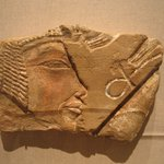 Fragment Showing Face and Part of Wig of Nefertiti